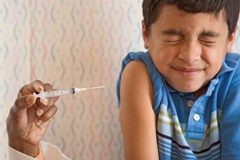 Photo - Boy getting immunized