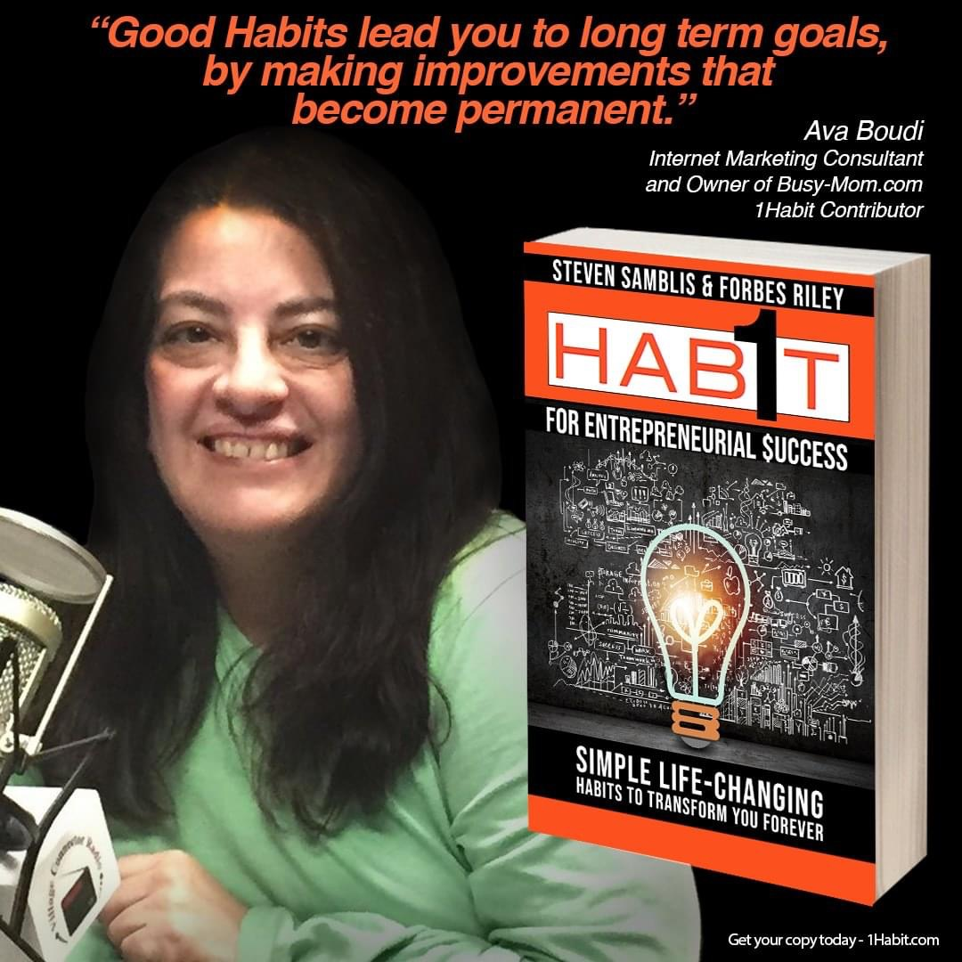 Ava Boudi - Author 1 Habit for entrepreneurial success